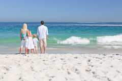 Portrait of a family on the beach Royalty Free Stock Image