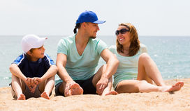 Portrait of family at beach Stock Photography