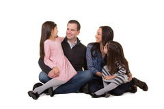 Portrait of a family stock photos