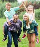 Portrait of family with children Stock Images