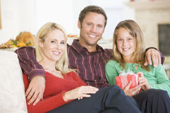 Portrait Of Family At Christmas Royalty Free Stock Image