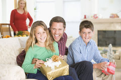 Portrait Of Family At Christmas royalty free stock photos