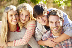 Portrait Of Family In Countryside Royalty Free Stock Photos