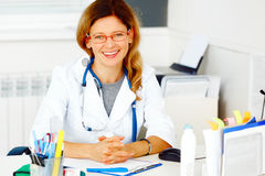 Portrait of family doctor Royalty Free Stock Image