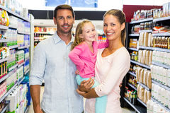Portrait of family doing shopping Stock Images