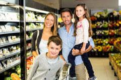 Portrait of family doing shopping Stock Photography