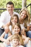 Portrait of family enjoying together Royalty Free Stock Photography