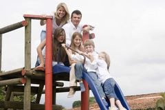 Portrait of family enjoying together Royalty Free Stock Photo