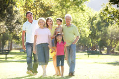 Portrait Of Family Enjoying Walk In stock photos