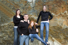 Portrait of family of four Royalty Free Stock Photos