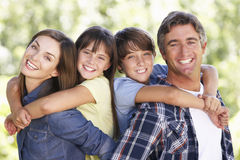 Portrait Of Family In Garden Royalty Free Stock Photo