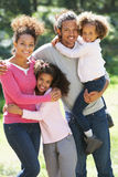 Portrait Of Family Group In Countryside Together royalty free stock photo