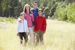 Portrait Of Family On Hike In Beautiful Countryside Stock Photos