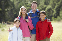 Portrait Of Family On Hike In Beautiful Countryside Stock Photo