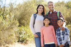Portrait Of Family Hiking In Countryside Royalty Free Stock Images