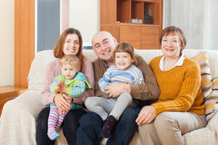 Portrait  family  in home Stock Photos