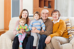 Portrait  family  in home Royalty Free Stock Photo