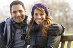 Portrait family outdoors in winter stock image