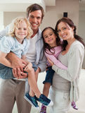 Portrait of a family posing together Royalty Free Stock Photography