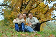 Portrait of family relaxing Royalty Free Stock Photography