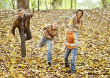 Portrait of family relaxing Stock Photo