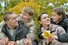 Portrait of family relaxing Royalty Free Stock Image