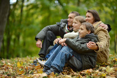 Portrait of family relaxing Royalty Free Stock Photo