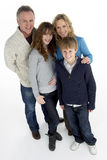 Portrait Of Family In Studio Stock Photo
