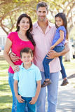 Portrait Of Family On Suburban Street Stock Images