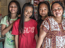 Portrait of family from Sulawesi, Indonesia Royalty Free Stock Image