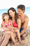 Portrait Of Family On Summer Beach Holiday Royalty Free Stock Photo
