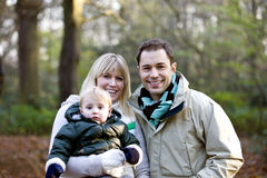 Portrait of a family and their son royalty free stock images