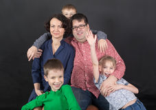 Portrait of a family Royalty Free Stock Images