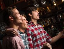 Portrait of the fans in the bar Stock Photo