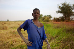 Portrait of a farmer in Mopti, Mali 2012 Royalty Free Stock Image