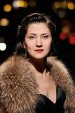 Portrait fascinant de dame photographie stock