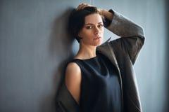 Portrait of fashion beautiful woman stock photo