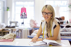 Portrait of fashion designer Royalty Free Stock Images