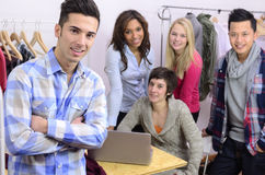 Portrait of fashion designer team at work Royalty Free Stock Photography