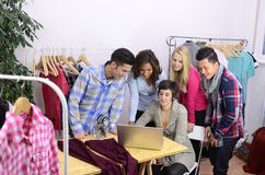 Portrait of fashion designer team at work Stock Photography