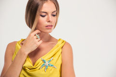 Portrait of a fashion female model Royalty Free Stock Photo