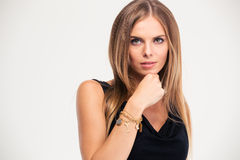 Portrait of a fashion female model Royalty Free Stock Images