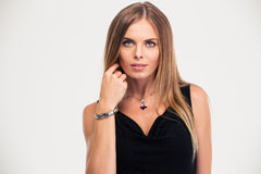 Portrait of a fashion female model Royalty Free Stock Photography