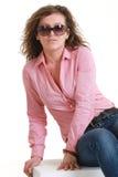 Portrait of fashion girl Stock Photos