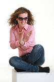 Portrait of fashion girl Royalty Free Stock Image