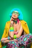 Bright fashion lady stock photography