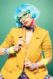 Portrait of fashion girl stock photography
