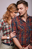 Portrait of fashion glamor stylish hipster young couple Royalty Free Stock Photography