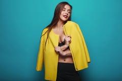 Portrait of fashion glamor stylish swag young woman Royalty Free Stock Image