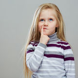 Portrait of fashion kid. Royalty Free Stock Photography